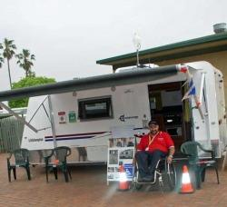 Accessavan. Wheelchair accessible caravan